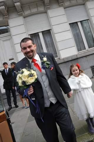 sortie d'église mariage ecossais Monsieur